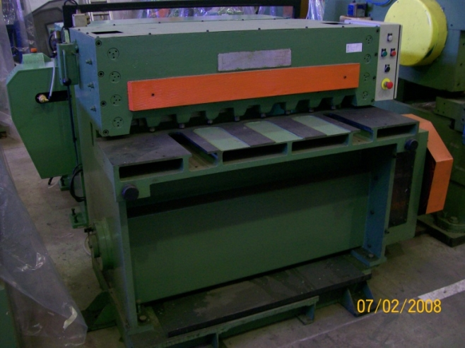 Cisaille guillotine1000 x 6 mms